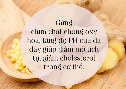 Giảm mỡ bụng nhanh và hiệu quả với Gừng tươi